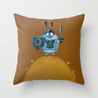 viking Throw Pillows featuring viking by Mirosedina