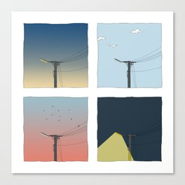 A Day in the Life of a Lamp Post Canvas Print