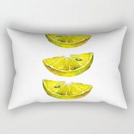 Lemon Slices White Rectangular Pillow
