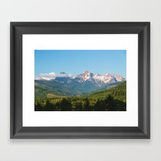 Sunny Mountain Summer Framed Art Print