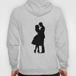 Couple Drawing Sketch Print One Line Art, Modern Minimalist Abstract Prints Continuous Line Art Hoody