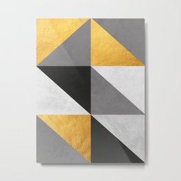 Gray and gold texture I Metal Print