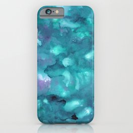 Dreamy Ocean Abstract Painting #2 #ink #decor #art #society6 iPhone Case