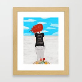 Smells Like Teen Spirit Framed Art Print