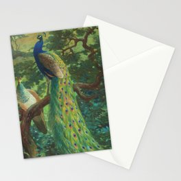Peacock Chinoiserie Stationery Cards