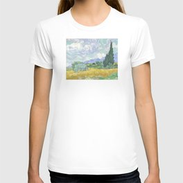 Vincent van Gogh - Wheat Field With Cypresses T-shirt