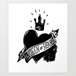 Queen of hearts, Custom gift design Art Print