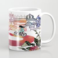 cycling Mugs featuring Summer Cycling by Natsuki Otani