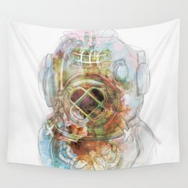 Deep Diver Suit Wall Tapestry