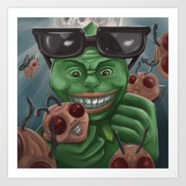 Frogs Night Art Print
