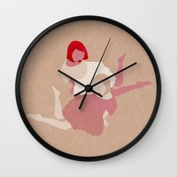 girls Wall Clocks featuring Girls by Claudia Voglhuber