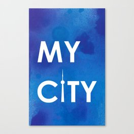 My City - Toronto - BlueA Canvas Print