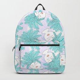 Fern-tastic Girls in Teal + Periwinkle Backpack