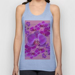 Modern Purple Moth Orchids Coral Color Unisex Tank Top