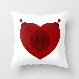 Robot Heart Throw Pillow