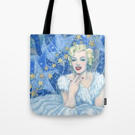 Marilyn, Old Hollywood, celebrity portrait Tote Bag