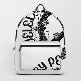 Hippies Peace Love | Hippie 60s Gift Ideas Backpack