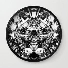 Mirrored Crystal Black & White Wall Clock