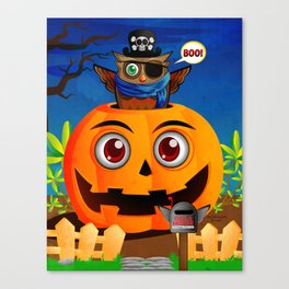 Halloween Owl Canvas Print