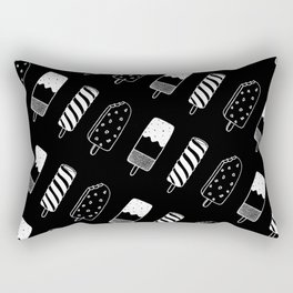 Summer Ice Lollies (Black) Rectangular Pillow