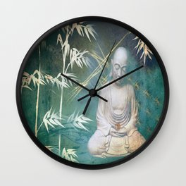 Buddha's awakening from deep meditation Wall Clock