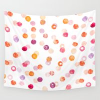 polka Wall Tapestries featuring Polka by Eleanor Amelia