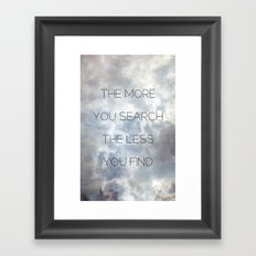 Search & Find Framed Art Print