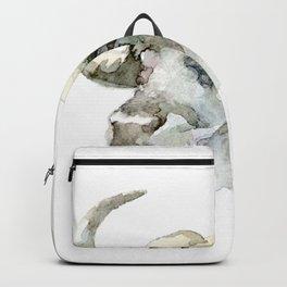 Buffalo, Bison, Watercolor Handmade Painting Backpack