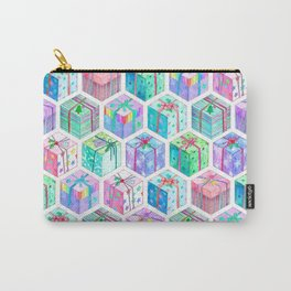 Christmas Gift Hexagons Carry-All Pouch