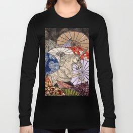 Unicorn Amongst Umbrellas XVII Long Sleeve T-shirt