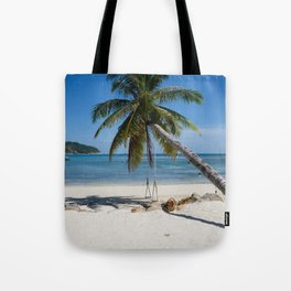 swing into paradise Tote Bag