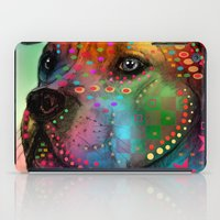 pit bull iPad Cases featuring pit bull by mark ashkenazi