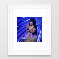 minaj Framed Art Prints featuring MILEY WHAT'S GOOD? by Nicki Minaj Spain