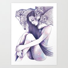 Raised By Wolves Art Print