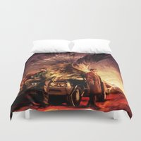 alicexz Duvet Covers featuring Carry On My Wayward Son by Alice X. Zhang