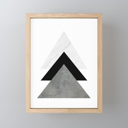 Arrows Monochrome Collage Framed Mini Art Print