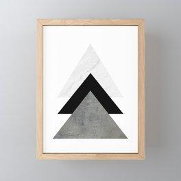 Arrows Monochrome Collage Framed Mini Art Print