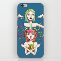 twins iPhone & iPod Skins featuring Twins by kellyhalloran