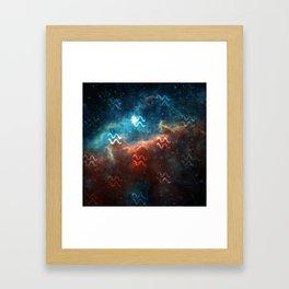 Aquarius Comos Framed Art Print