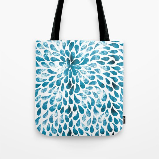 CUT OUT TEAR DROP PATTERN / INDIAN INK Tote Bag