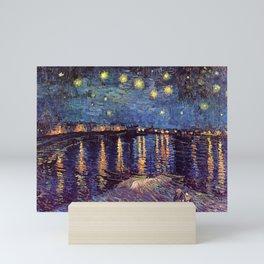 STARRY NIGHT OVER RHONE - VAN GOGH Mini Art Print