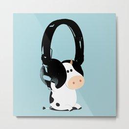 La vache mélomane Metal Print