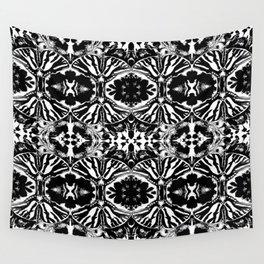 Zebra Butterfly Pattern Wall Tapestry