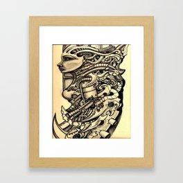 BIOmech woman 2 Framed Art Print