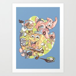 Spongebob Squarepants Summer Art Print