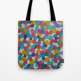 Rainbow Dots Abstract Watercolor Art Tote Bag