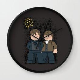 Solving Crimes  (Lego Sherlock Holmes) Wall Clock