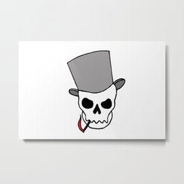 Smokin´ Skull Metal Print