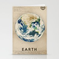 earth Stationery Cards featuring Earth by Heather Landis