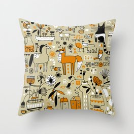 MANY ITEMS Throw Pillow